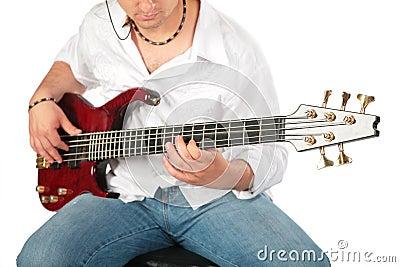Jogo do homem novo na guitarra