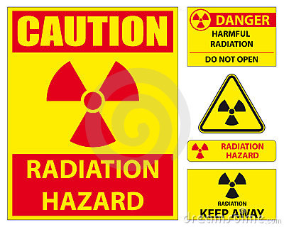 Jogo do sinal de perigo da radiação