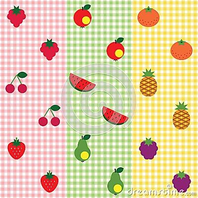 Jogo do teste padrão da fruta