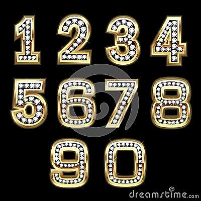 Jogo do vetor de números de Bling