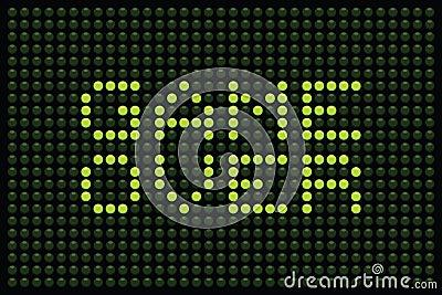Jogo sobre a matriz do diodo emissor de luz