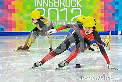Jogos Olímpicos 2012 da juventude Imagem Editorial