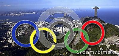 Jogos Olímpicos - Rio de janeiro - Brasil Imagem de Stock Editorial