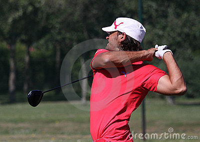 Johan Edfors at golf French Open 2010 Editorial Stock Image
