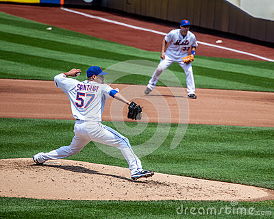 Johan Santana of the NY Mets Editorial Photography