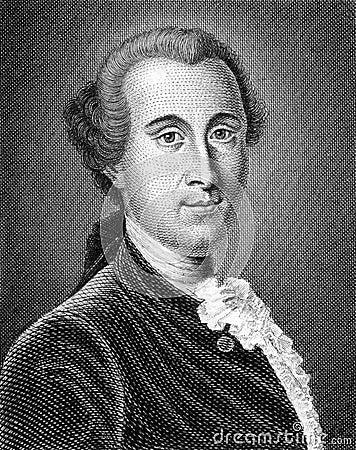 Johann Georg Ritter von Zimmermann Editorial Stock Photo