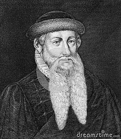 Johannes Gutenberg Editorial Stock Photo
