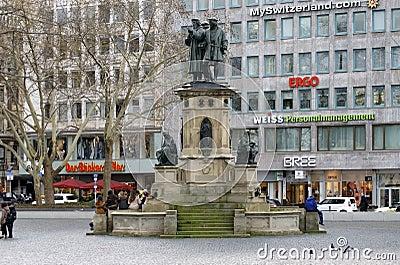 Johannes Gutenberg Monument Frankfurt Editorial Stock Image
