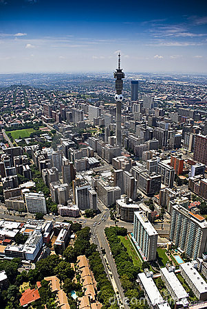 Free Johannesburg CBD - Aerial View Stock Images - 13111854
