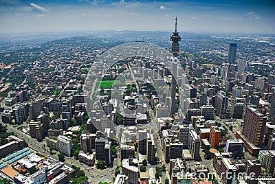 Johannesburg CBD - Aerial View