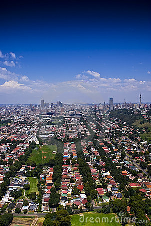 Johannesburg East with CBD in Background