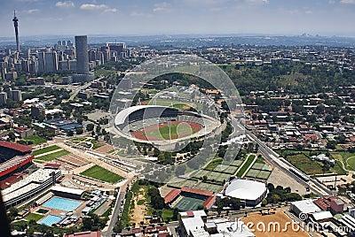 Johannesburg Stadium - Aerial View Editorial Photography