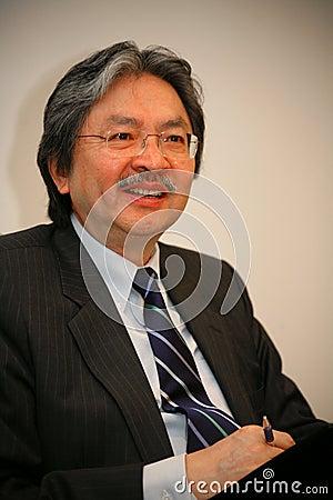 John C. Tsang - Financial Secretary Hong Kong Spec Editorial Stock Image