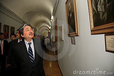 John C. Tsang - Financial Secretary Hong Kong Spec Editorial Photography
