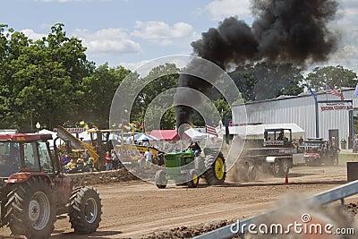 John Deere 6030 Tractor pulling Editorial Stock Image
