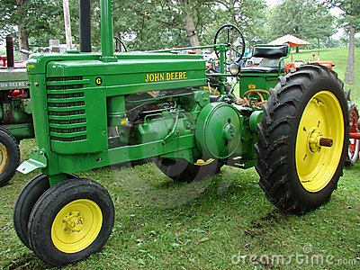 John Deere Model G Vintage Tractor Editorial Stock Photo