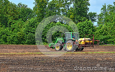 John Deere Tractor with Sprayer Editorial Image