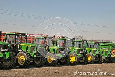 John Deere Tractors Editorial Image