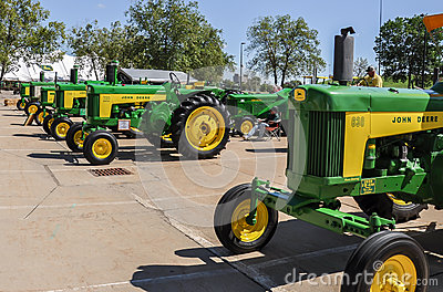 John Deere Tractors Editorial Photo
