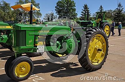John Deere Tractors Editorial Stock Photo