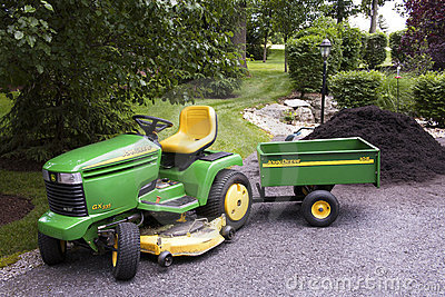 John Deere with Wagon Editorial Stock Image