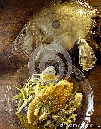 John Dory fillet ,shredded leeks ,oyster sauce
