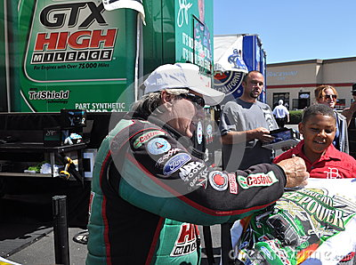John Force Autograph Editorial Photo