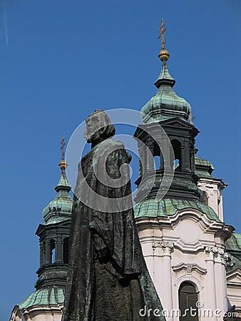 John Hus memorial in Prague (Czech Republic, Europe)