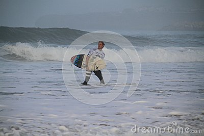 John John Florence exiting the water Editorial Stock Image