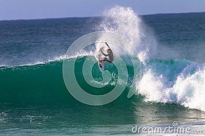 John John Florence Surfing Action Editorial Stock Photo