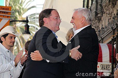 John Lasseter, John Ratzenberger Editorial Photo