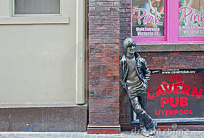 John Lennon statue outside The Cavern Club Editorial Image