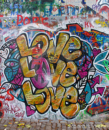 John Lennon Wall Editorial Photo