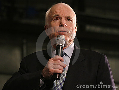 John McCain speech headshot Editorial Image
