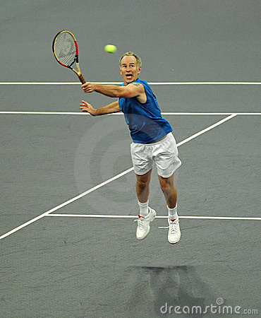 John McEnroe In Actions Royalty Free Stock Images - Image: 7154759