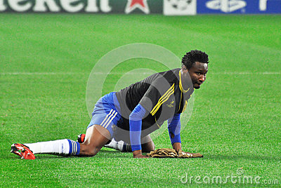 John Obi Mikel is kneaded Editorial Stock Photo