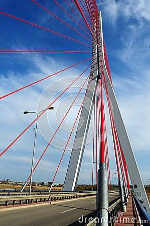 John Paul II bridge in Gdansk