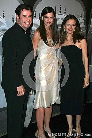 John Travolta,Katie Holmes,Kelly Preston Editorial Photo