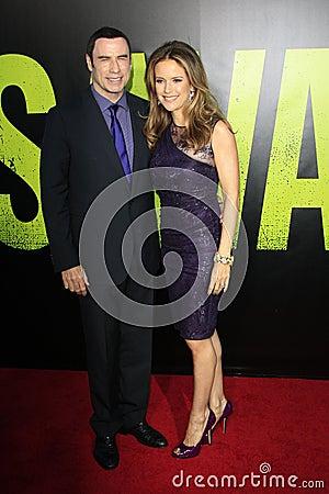 John Travolta, Kelly Preston arrives at the  Editorial Photography