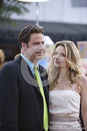 John Travolta and Michelle Pfeiffer Editorial Stock Image