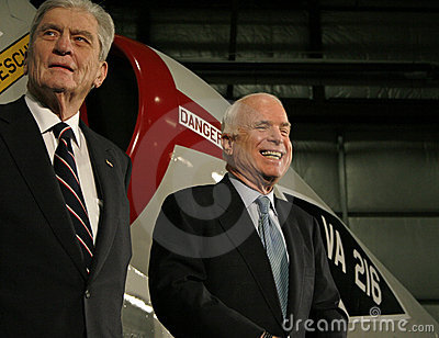 John Warner and John McCain Editorial Stock Photo