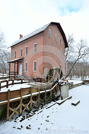 John Wood Grist Mill in December