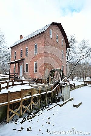 John Wood Grist Mill in December