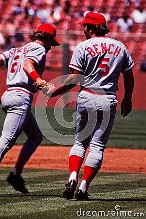 Johnny Bench Cincinnati Reds Editorial Image