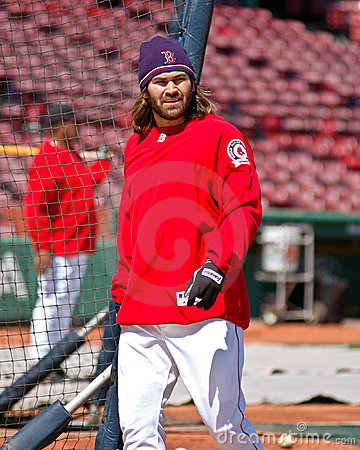 Johnny Damon Boston Red Sox Editorial Stock Photo