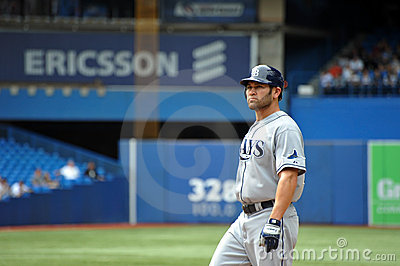 Johnny Damon of the Tampa Bay Rays Editorial Stock Image