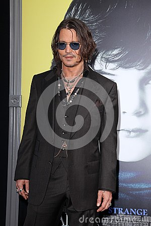 Johnny Depp,The Darkness Editorial Stock Photo