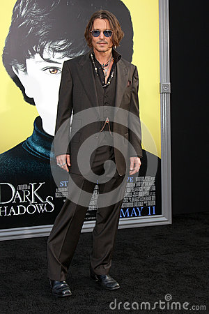 Johnny Depp,The Darkness Editorial Stock Image