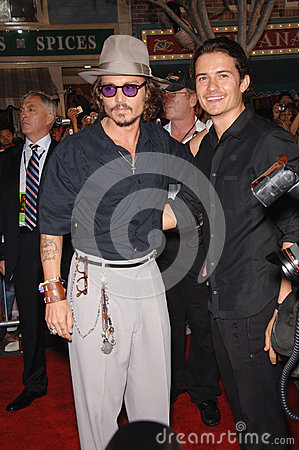 Johnny Depp,Orlando Bloom Editorial Stock Image