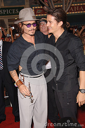 Johnny Depp,Orlando Bloom Editorial Photo